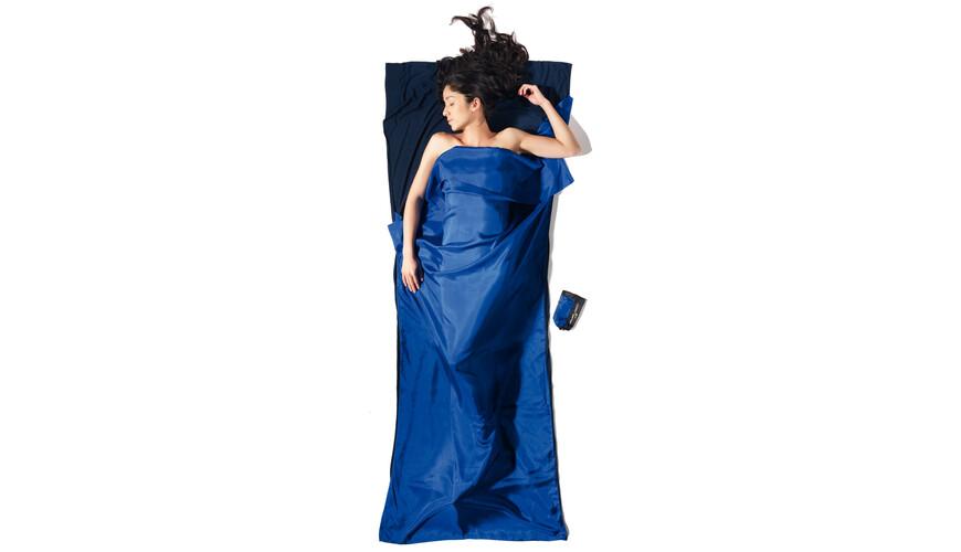 Cocoon TravelSheet Slaapzak Ripstop Silk/Thermolite blauw/zwart